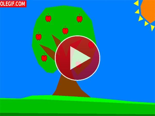 GIF: Yoshi... y un manzano