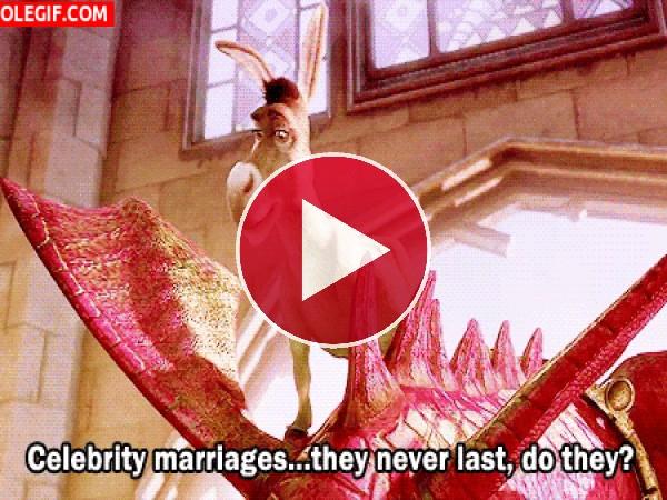 GIF: Matrimonios de famosos... nunca duran, ¿verdad?