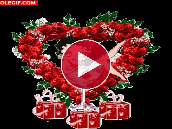GIF: Betty Boop en Navidad