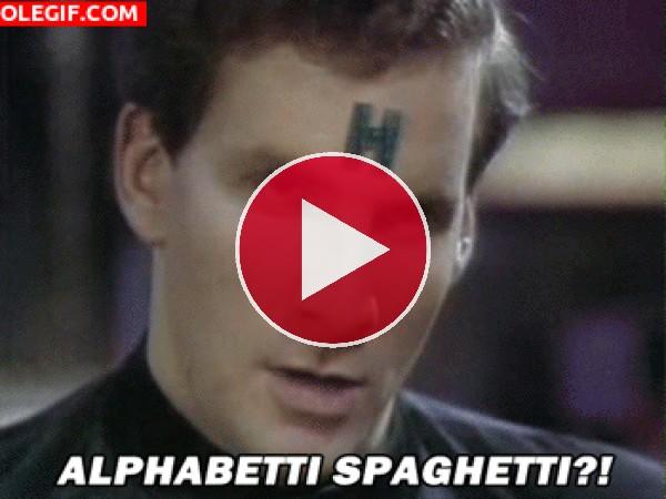 ¡¿Espagueti alfabético?!