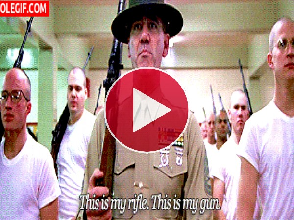 GIF: Este es mi rifle. Esta es mi arma.