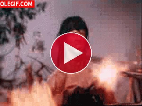 GIF: Rambo en combate