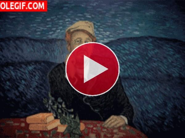 GIF: El Retrato del Doctor Gachet (Vincent van Gogh)