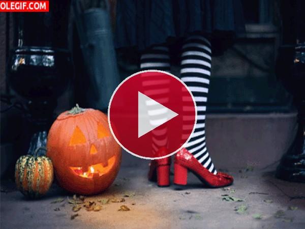 GIF: Zapatos de bruja