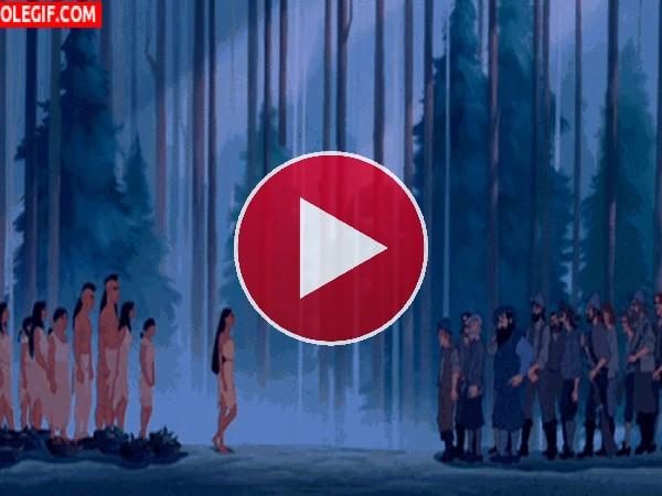 GIF: Pocahontas y los conquistadores