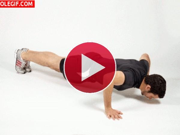 GIF: Haciendo flexiones