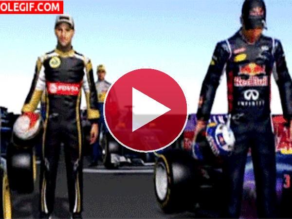GIF: Pilotos de Fórmula 1