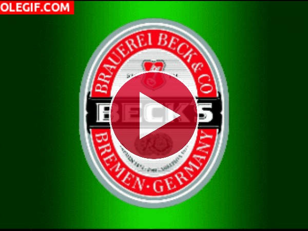 GIF: Cerveza Beck's